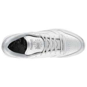 db9ace001523 Reebok Shoes - Reebok Classic Leather Silver Glitter Sz 10 NEW
